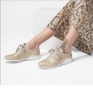 NWT UGG Tye Stardust Gold Sneakers